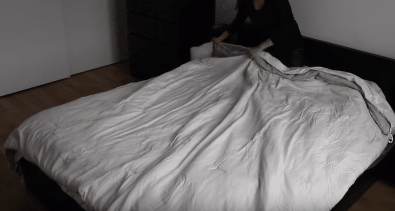 2-Place the duvet on top of the cover