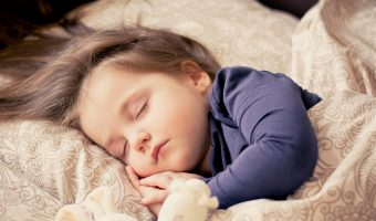 a little girl sleeping soundly