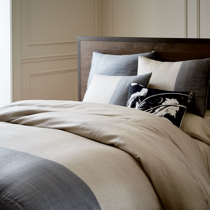 sari silk duvet cover on bed