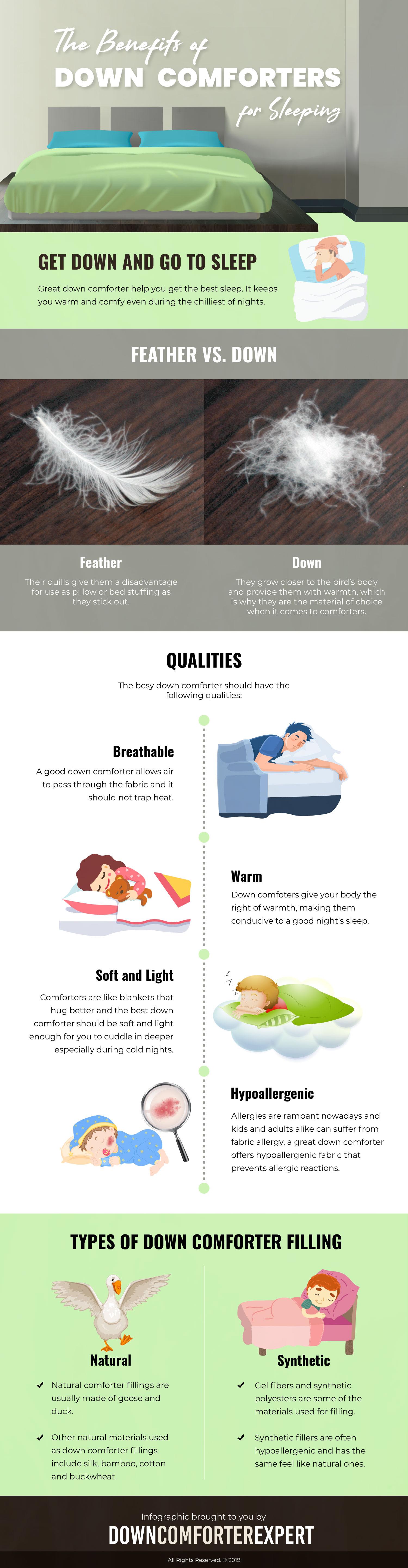 Benefits Down Comforter for Sleeping