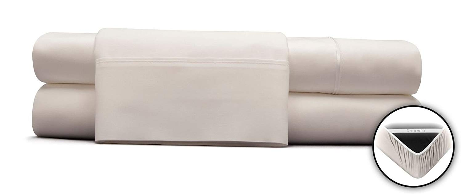 DreamFit 300TC 100% Degree 3 White Split Cal King Sheet Set