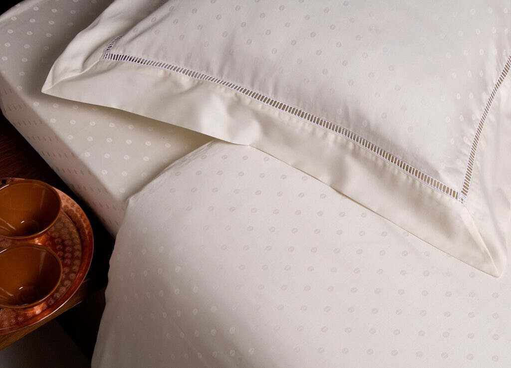A bed and pillow with modal sheets